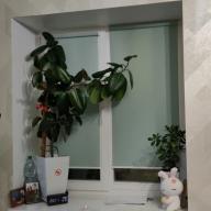 Рулонная штора на окно мини Эко - Рулонная штора на окно мини Эко, бирюзовый