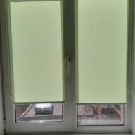 Рулонная штора на окно мини Эко - Рулонная штора мини на пластиковое окно ЕСО, салатовый