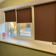 Рулонная штора на окно мини Эко - Рулонная штора мини на пластиковое окно ЕСО коричневый