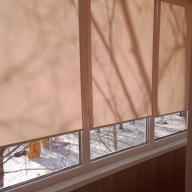 Рулонная штора на окно мини Эко - Рулонная штора мини ЭКО абрикосовый