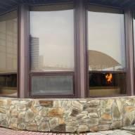 Рулонная штора на окно мини Эко - Рулонная штора мини на раму окна ЕСО кофейный