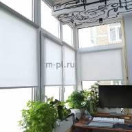 Рулонная штора на окно мини Эко - Рулонная штора мини ЕСО серый