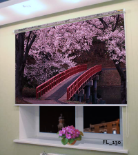 Рулонная штора с фотопечатью Цветы