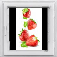 Рулонная штора с фотопечатью Фрукты - Клубника