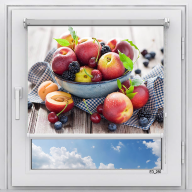 Рулонная штора с фотопечатью Фрукты - Персики