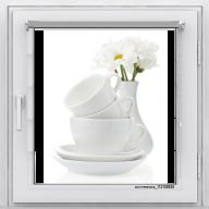 Рулонная штора с фотопечатью Фрукты - Чашки