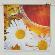 Рулонная штора с фотопечатью Фрукты - Рулонные шторы мини с фотопечатью, Ромашки