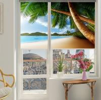 Рулонные шторы мини с фотопечатью Пляж
