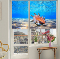 Рулонные шторы мини с фотопечатью Подводный мир