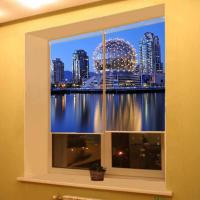 Рулонная штора с фотопечатью Города