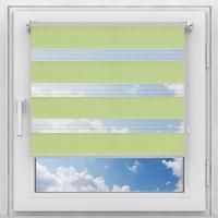 Рулонная штора мини Зебра Стандарт зеленая 46 см