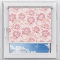 Рулонная штора на пластиковое окно Камелия розовая