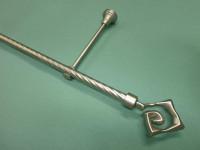 Карниз витой однорядный Квадрат, диаметром 16 мм