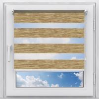 Рулонная штора на пластиковое окно мини Зебра Этник