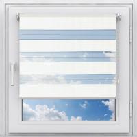 Рулонная штора мини Зебра Стандарт белый 76 см