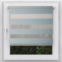 Рулонная штора мини Зебра Стандарт голубой 39см