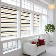 Рулонная штора на пластиковое окно мини Зебра Дайкири - Рулонные шторы мини-Зебра, Дайкири шоколад