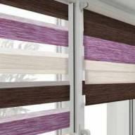 Рулонная штора на пластиковое окно мини Зебра Дайкири - Рулонные шторы Зебра из ткани Дайкири, вишня