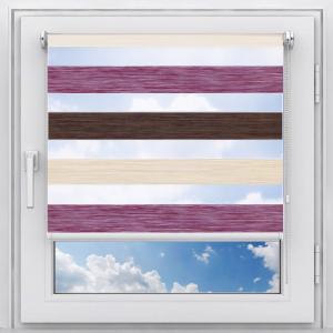 Рулонная штора на пластиковое окно мини Зебра Дайкири