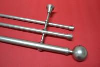 Карниз трехрядный Шар Люкс, диаметром 25/16 мм