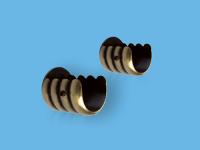 Кронштейн торцевой для круглого карниза 25 мм