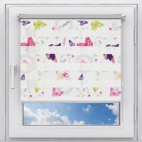 Рулонная штора на пластиковое окно мини Зебра Бабочки