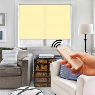 Рулонная штора Эко с электроприводом - Рулонная штора с электроприводом Эко, желтая