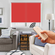 Рулонная штора Эко с электроприводом - Рулонная штора с электроприводом Эко, красная
