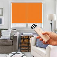 Рулонная штора Эко с электроприводом - Рулонная штора с электроприводом Эко, оранжевая