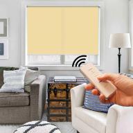 Рулонная штора Эко с электроприводом - Рулонная штора с электроприводом Эко, абрикосовый