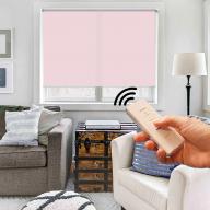 Рулонная штора Эко с электроприводом - Рулонная штора с электроприводом Эко, розовая