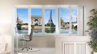 Рулонные шторы с панорамной фотопечатью Города