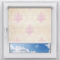 Рулонная штора Классик Garden,розовая шириной 80 см